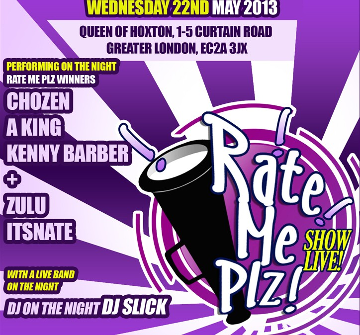 RateMePlz Flyer May 2013