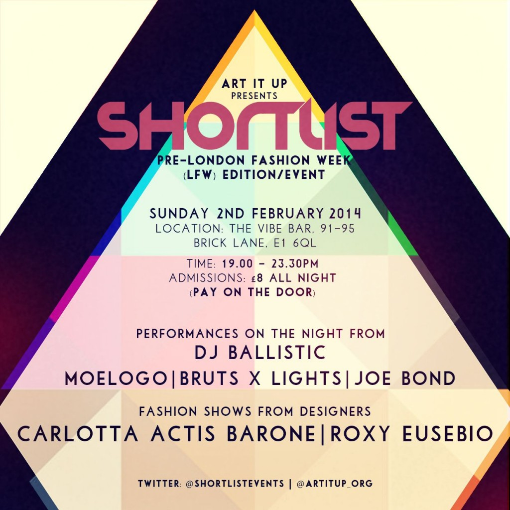 'SHORTLIST' PRE-LFW EVENT (ARTWORK) (1)