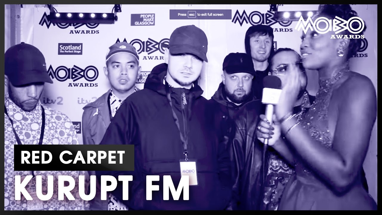 Catching up with the KURUPT FM crew at the MOBO Awards 2016