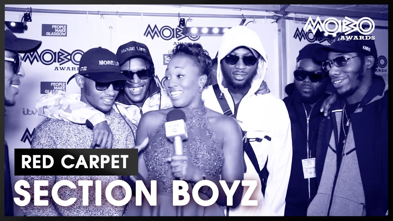 Section Boyz talk performing at the MOBO Awards 2016